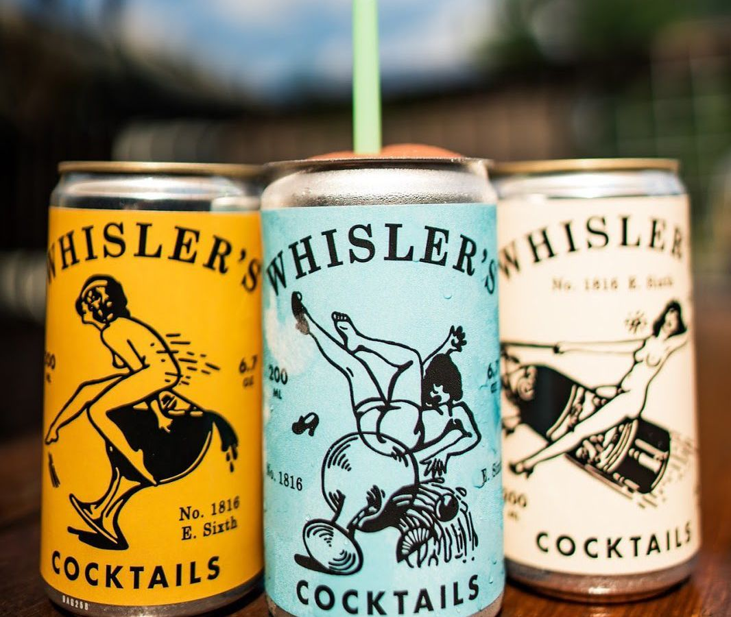 Whisler's canned cocktails