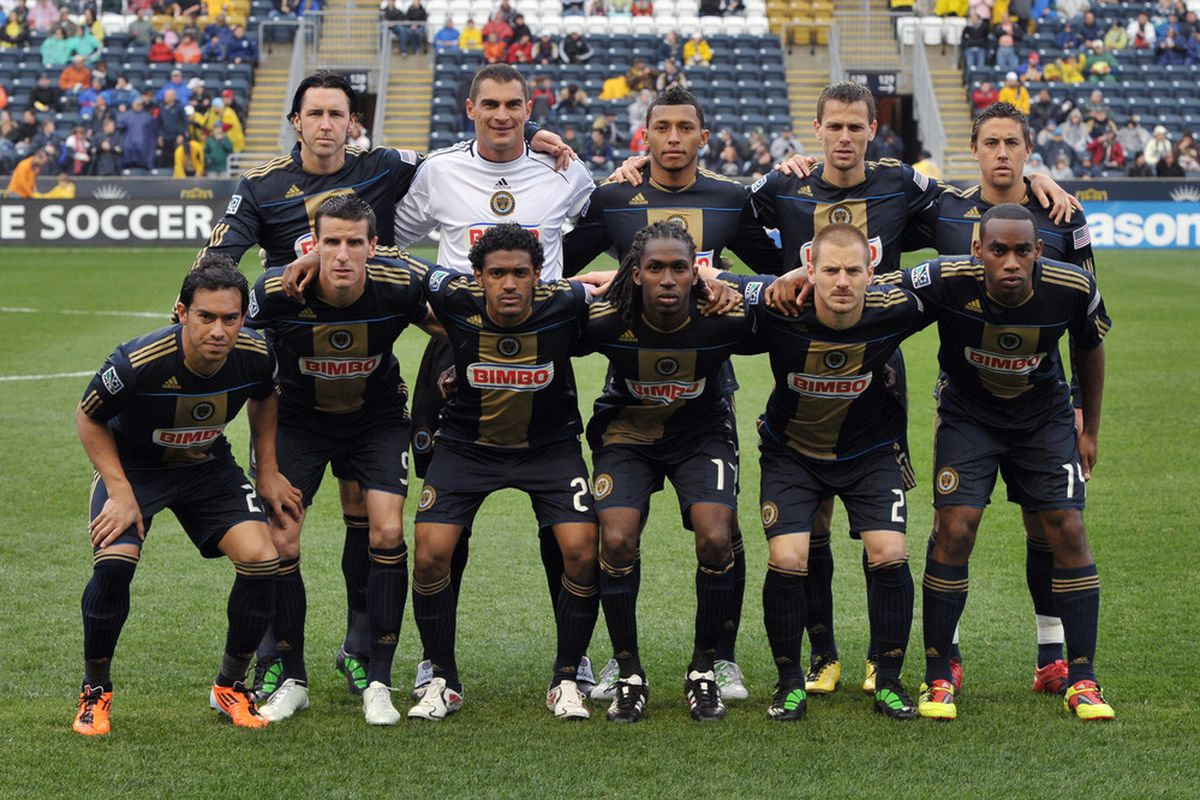 CHESTER, PA- APRIL 16:  The Philadelphia Union starters pose for a photograph before the game against the Seattle Sounders FC at PPL Park on April 16, 2011 in Chester, Pennsylvania. The game ended 1-1 tie. (Photo by Drew Hallowell/Getty Images)