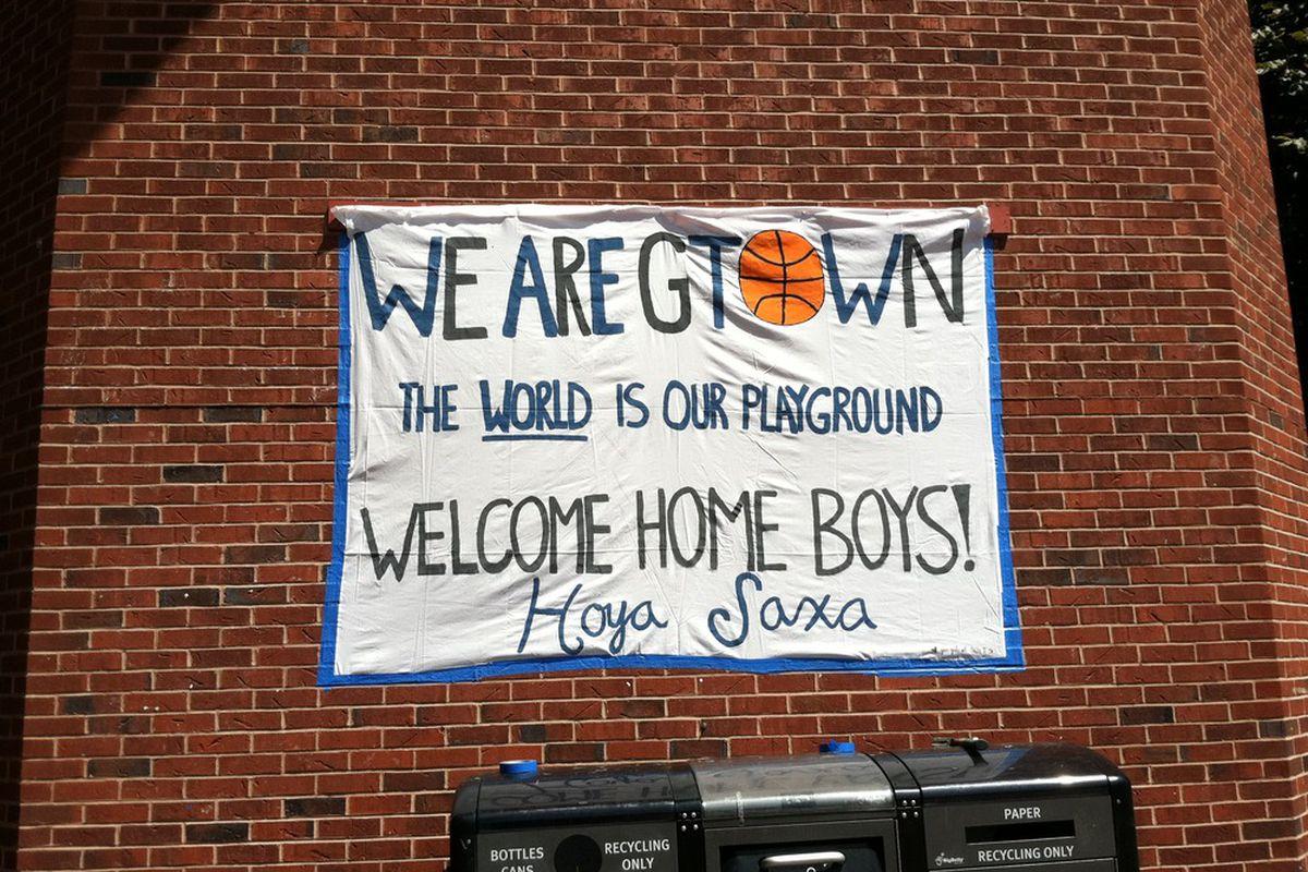 Welcome Home Banner Created by Hoya Blue. Photo Courtesy of Hoya Blue.