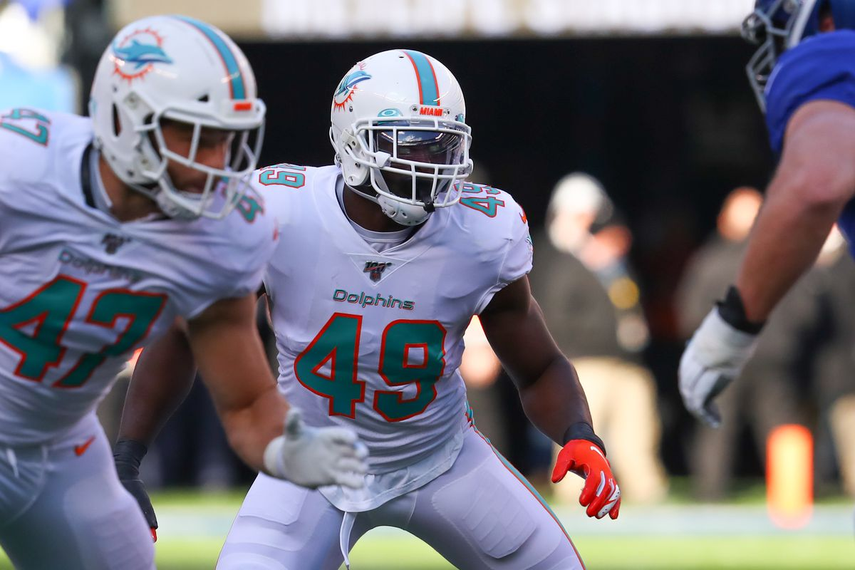 Dolphins Linebacker Sam Eguavoen Placed On Reserve Covid 19 List Vince Biegel To Ir The Phinsider