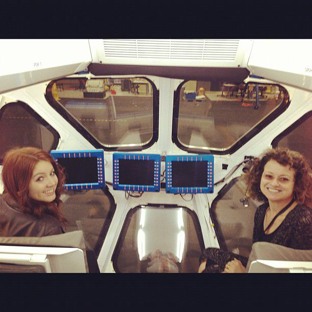 loren and her mom and a rover