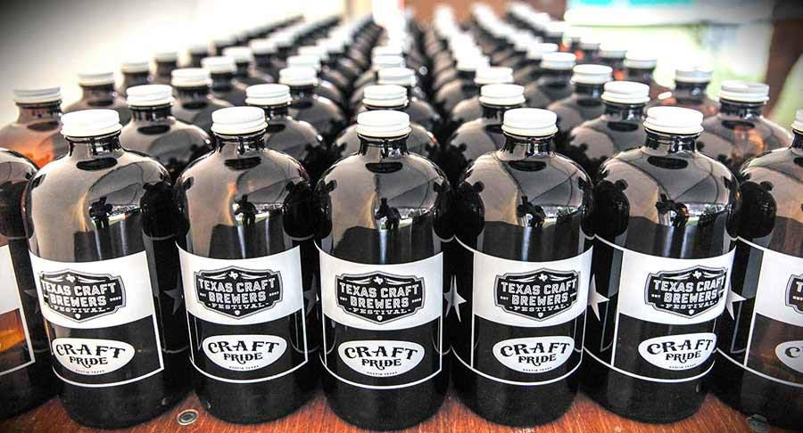 Growlers from the Texas Craft Brewers Festival