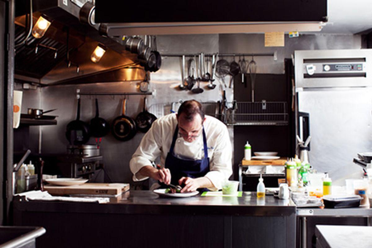 Chris Kearse in the Pumpkin kitchen
