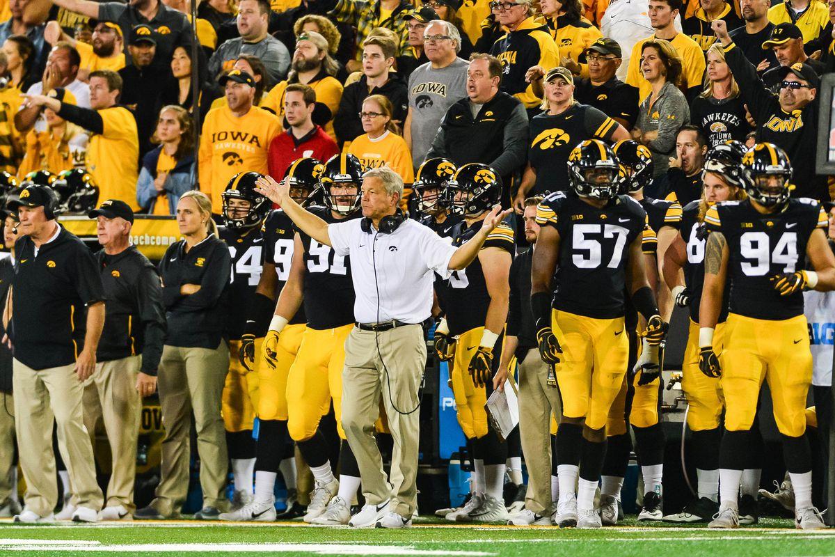 NCAA Football: Wisconsin at Iowa
