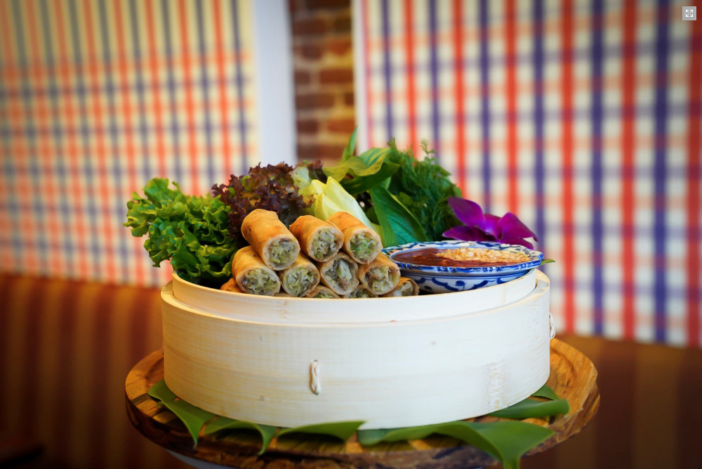 Crispy rolls at Lao Table