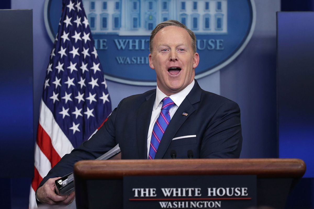 Sean Spicer, back when he was White House press secretary