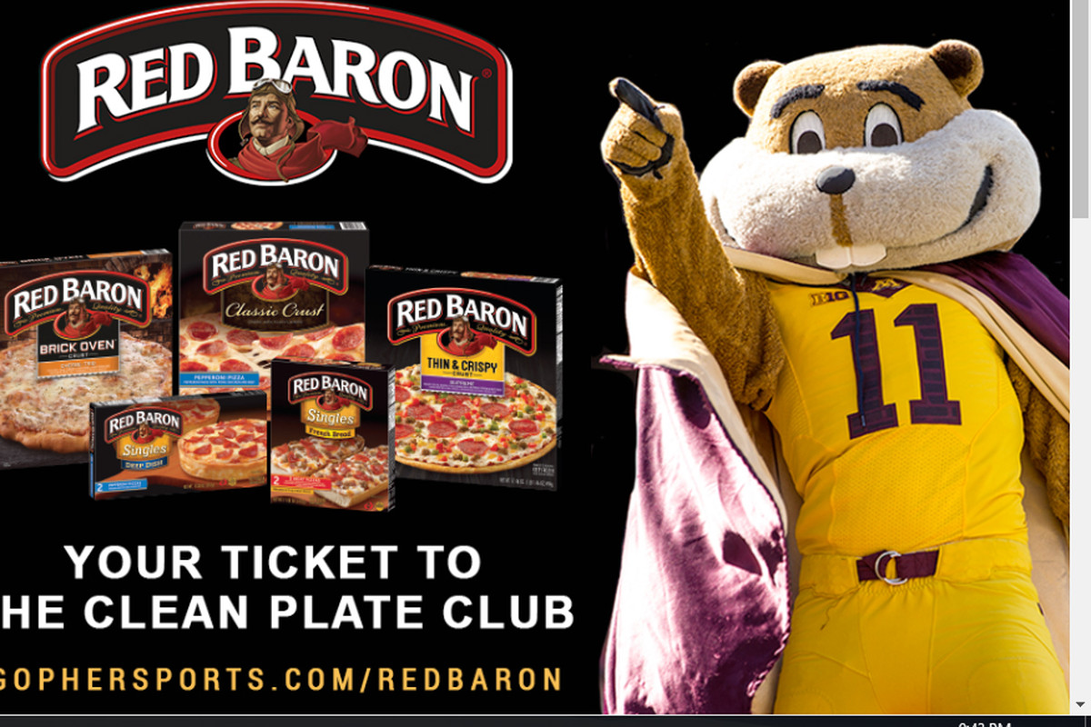 2531aa2bf I m Thankful for Minnesota Football and Red Baron Pizza Promotions ...