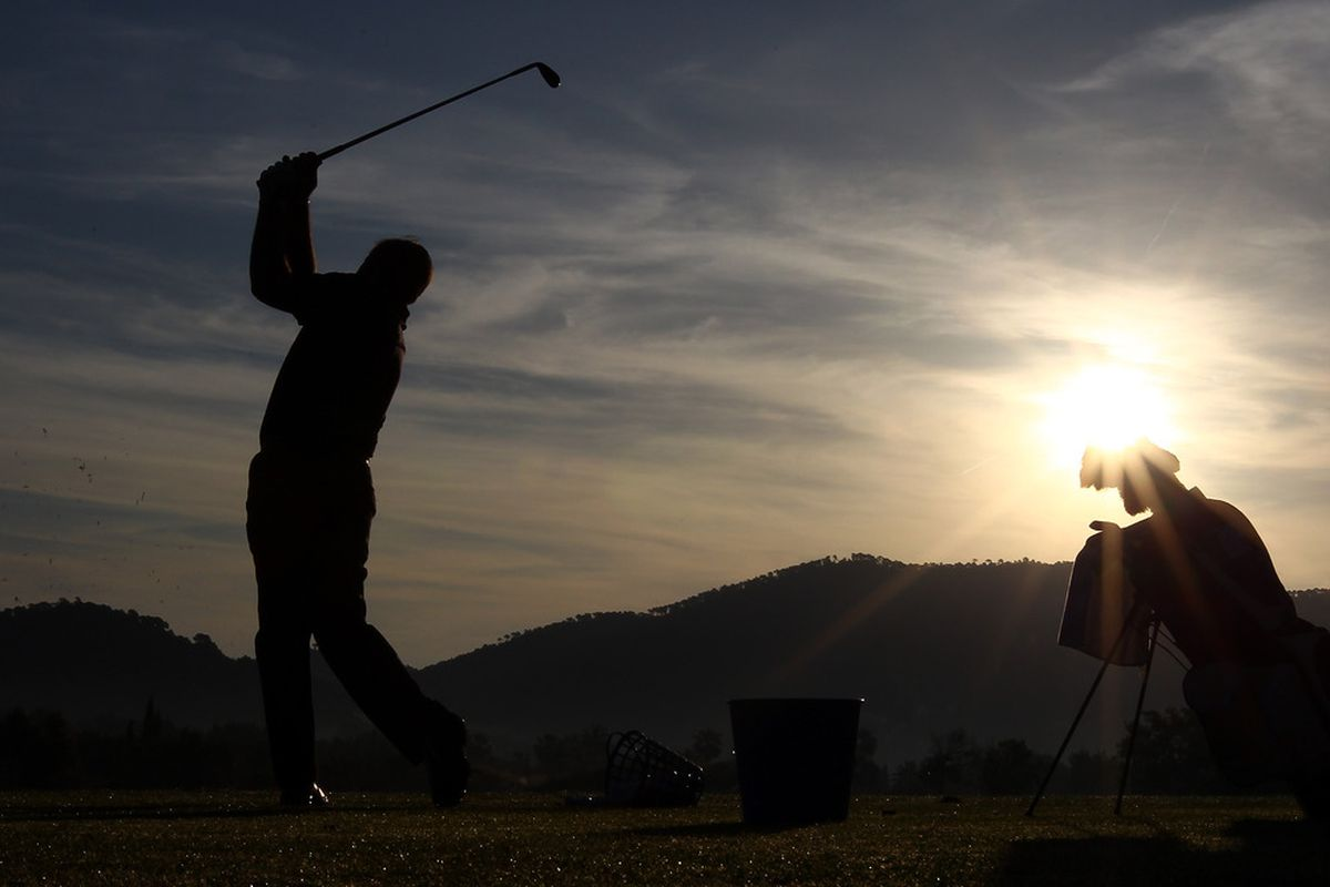 MALLORCA, SPAIN - MAY 11:  A general view of a golfer on the driving range during the ProAm of the Iberdrola Open at Pula Golf Club on May 11, 2011 in Mallorca, Spain.  (Photo by Julian Finney/Getty Images)