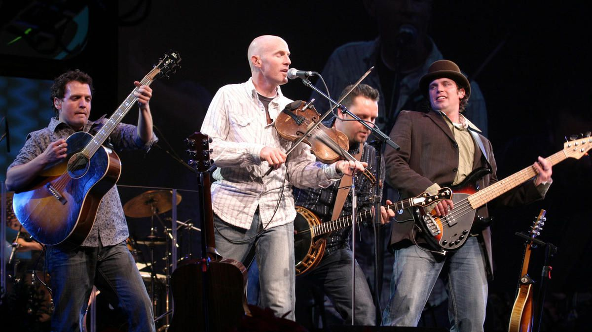Ryan Shupe, left, center, and the Rubberband, Roger Archibald, left Craig Miner and Colin Botts.