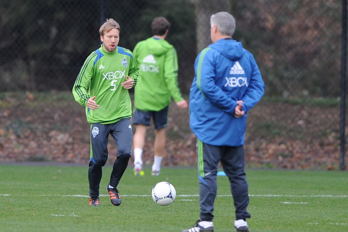 """Adam Johansson At An Earlier Stafire Practice (Credit: Chris Coulter / <a href=""""http://www.soundersphotos.com"""" target=""""new"""">Sounders Photos</a>)"""