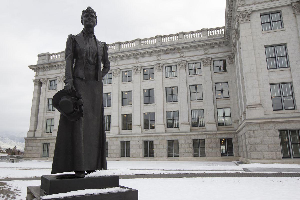 A statue of Martha Hughes Cannon