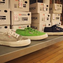 To complete the look, the store owner suggests a pair of funky Superga sneakers ($65-$85).