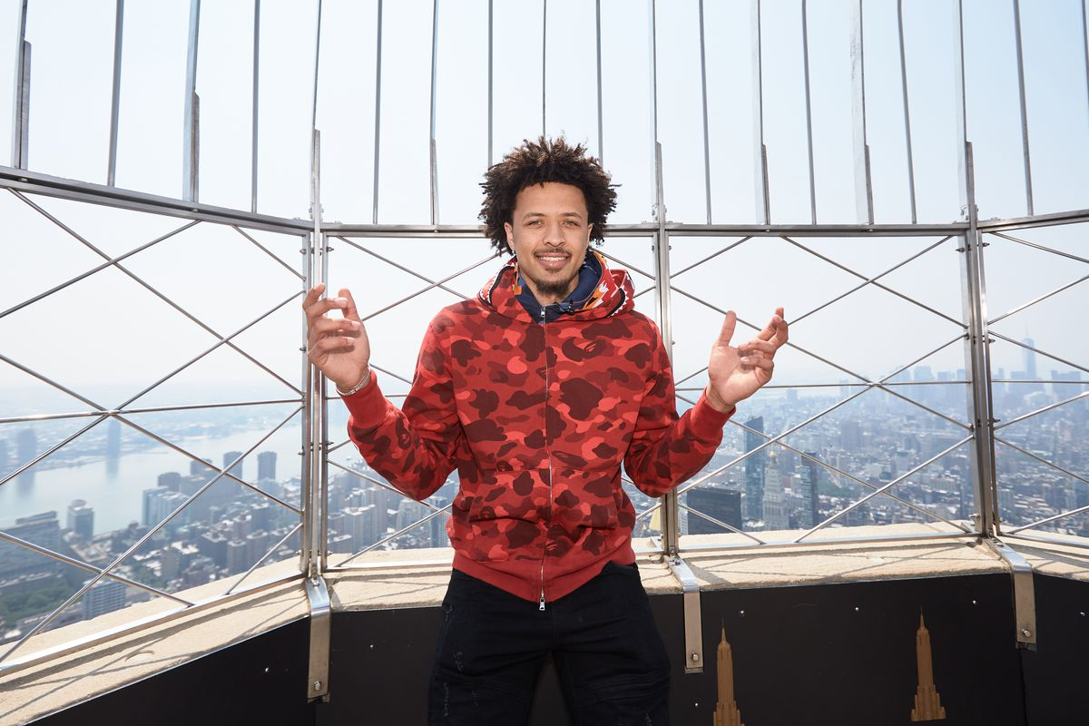Cade Cunningham Visits Empire State Building