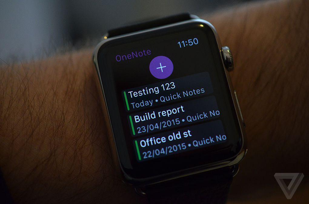 Apple Watch OneNote