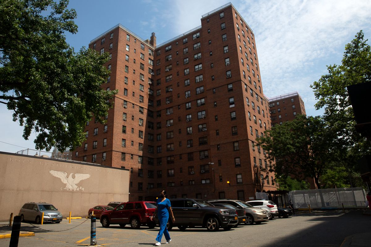 The Wald Houses in the East Village, Aug. 14, 2020.