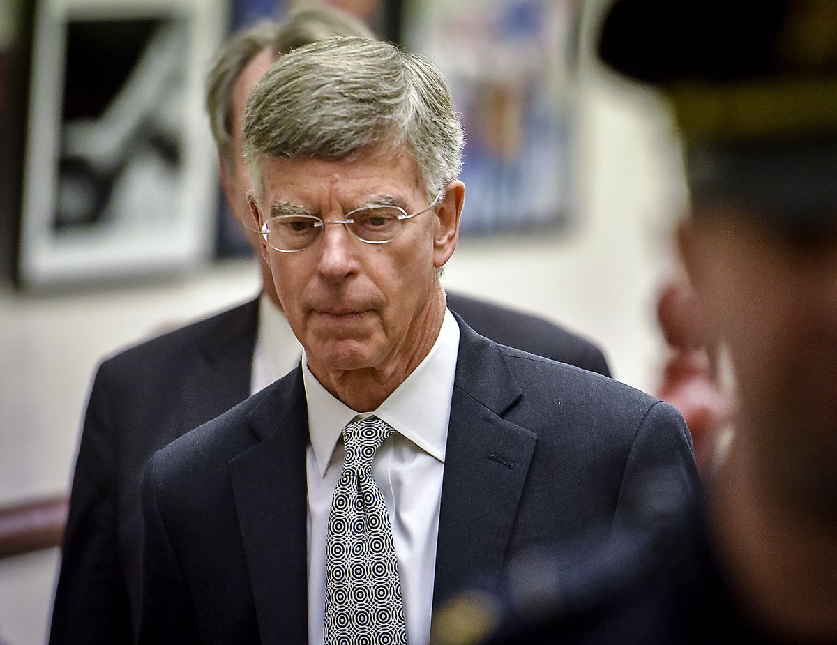 The acting Ambassador to Ukraine, William B. Taylor, Jr., departs after meeting with the House Intelligence committee for their impeachment inquiry, in Washington, DC.
