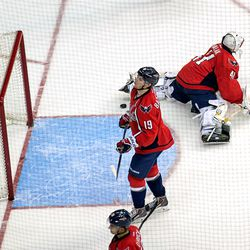 Backstrom Unhappy About Goal Against