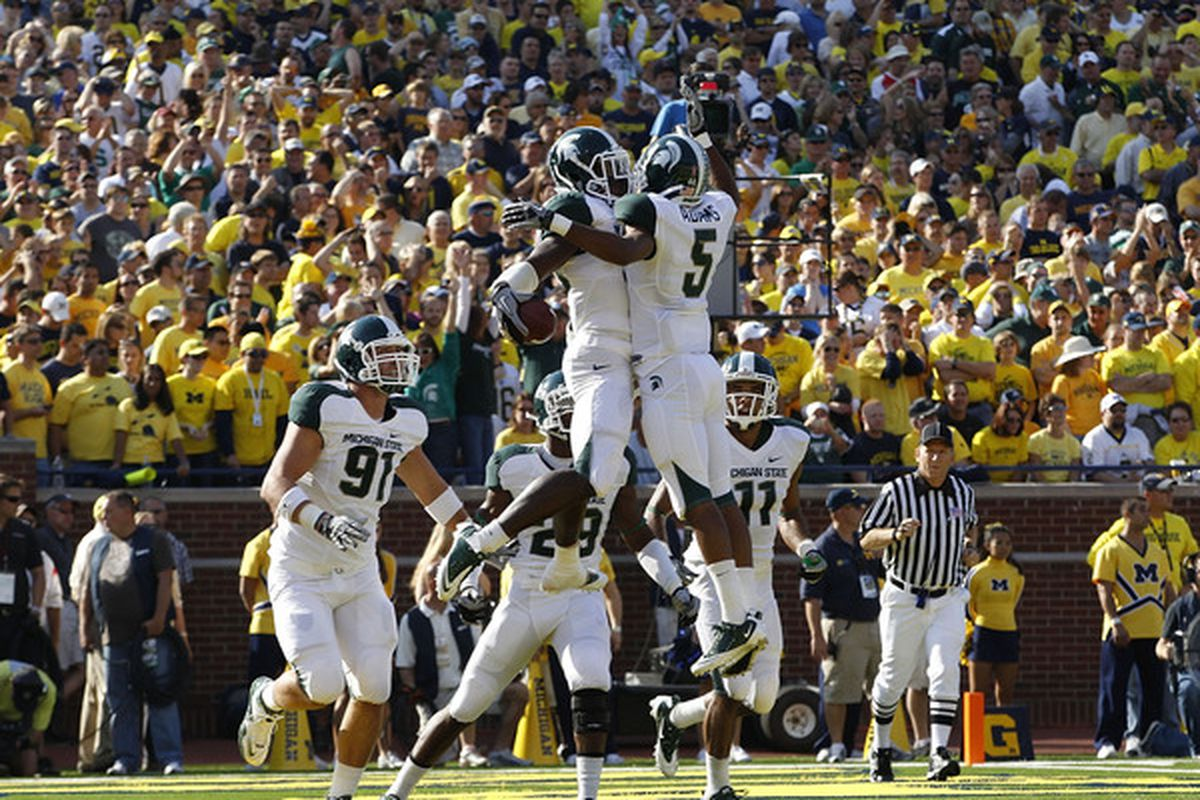 With the Big Ten as the best conference in the country, Michigan State should be #1, not #5 (Photo by Leon Halip/Getty Images)