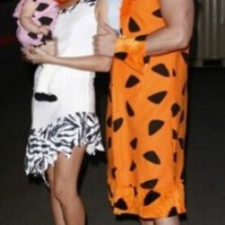 Melissa Rycroft, Tye Strickland, and baby Ava got in the family spirit with these Flintstones costumes.