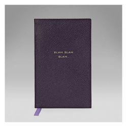 "<b>Smythson</b> Blah, Blah, Blah Panama Notebook, <a href=""http://www.smythson.com/us/blah-blah-blah-panama-notebook-4.html#"">$80</a>"