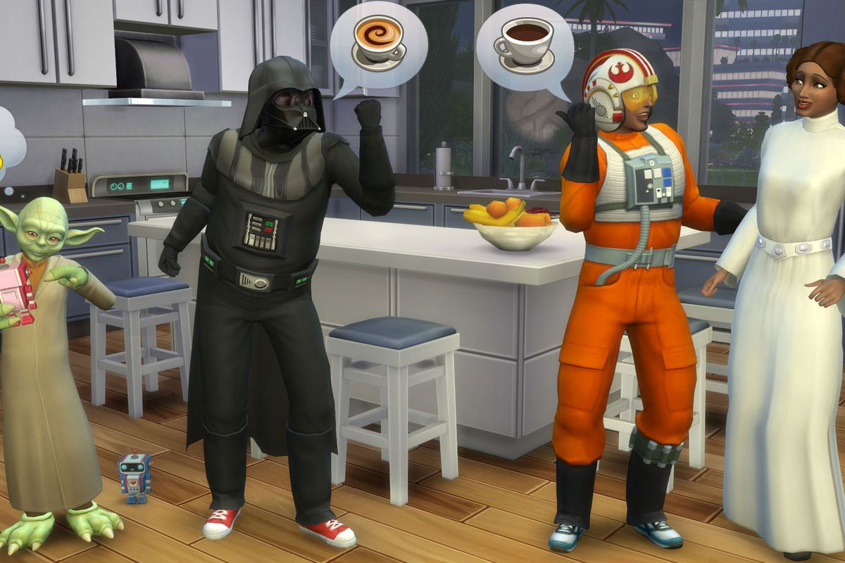 The Sims 4 gets Star Wars costumes, ghosts and swimming