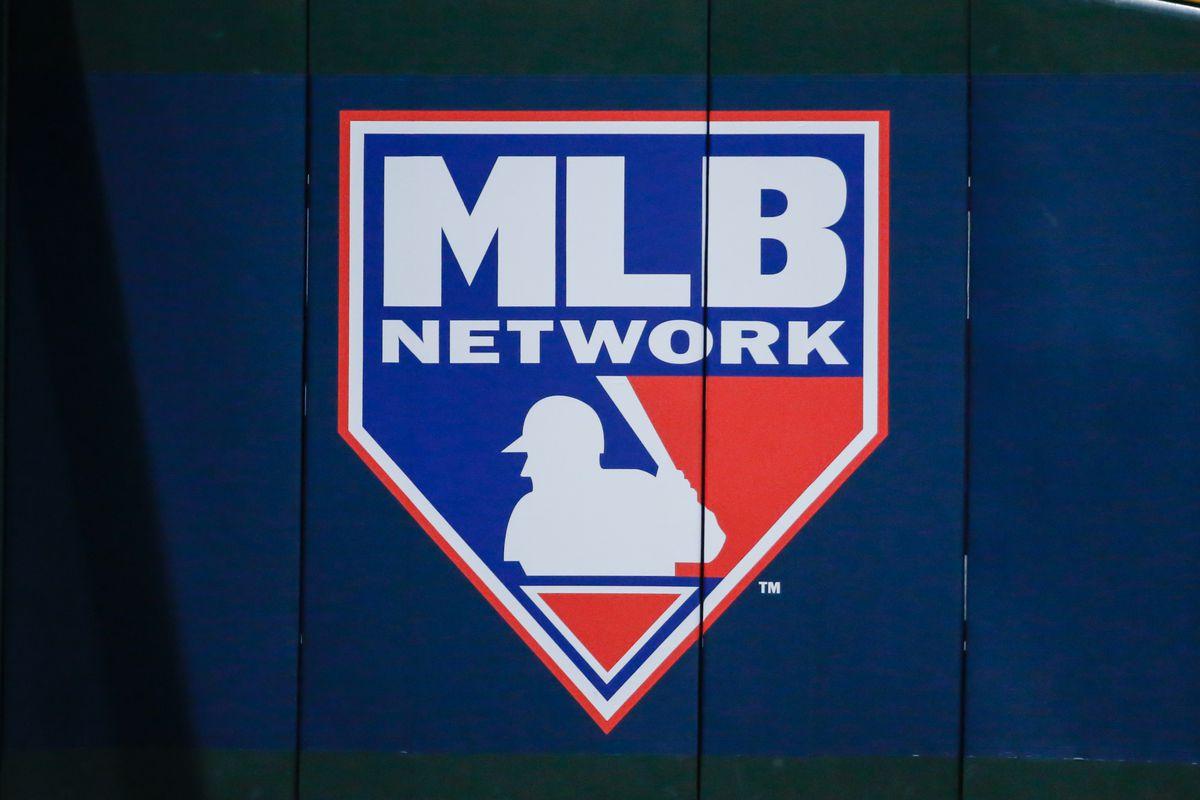 The MLB Network logo during the MLB National League Wild Card baseball game between the Colorado Rockies and the Arizona Diamondbacks on October 4, 2017 at Chase Field in Phoenix, Arizona.