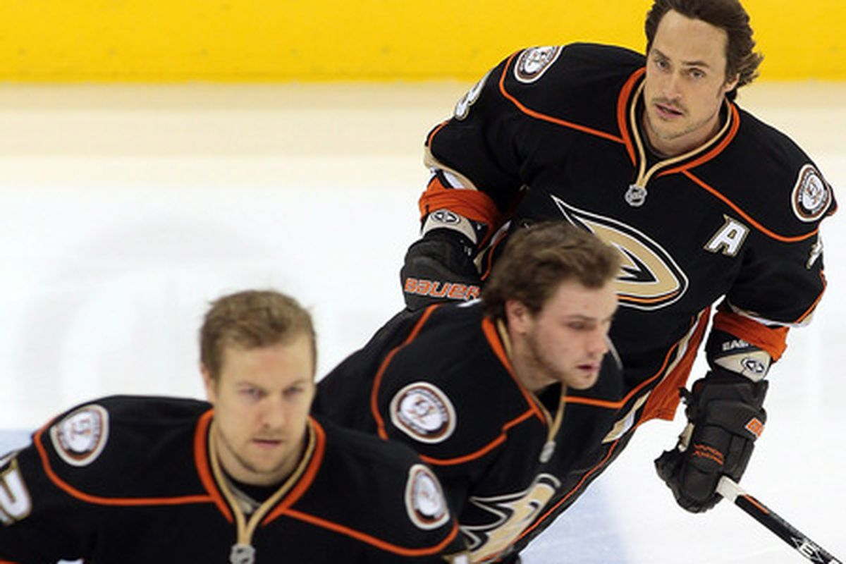 Doesn't matter what the Ducks record is - the Finnish Flash will always have the best windblown hair.
