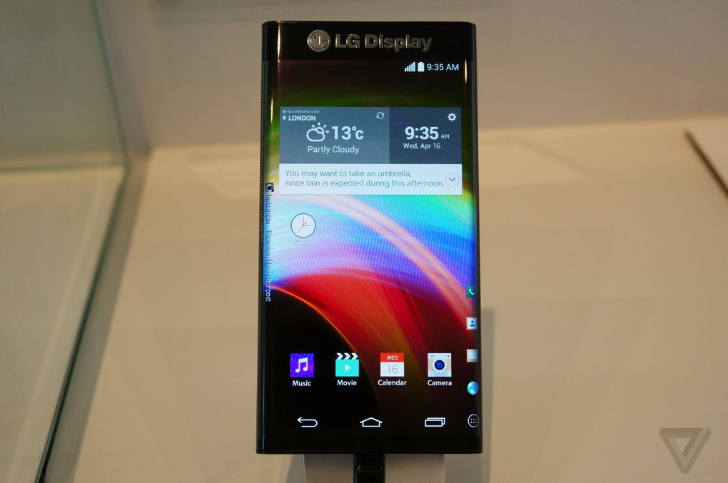 Forget the Note Edge, this LG display bends on both sides ...