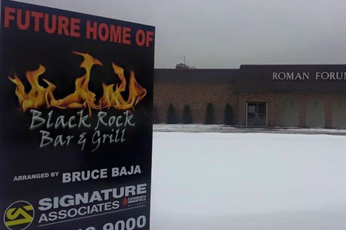 Black Rock Bar & Grill will open a third location in the shuttered Roman Forum.