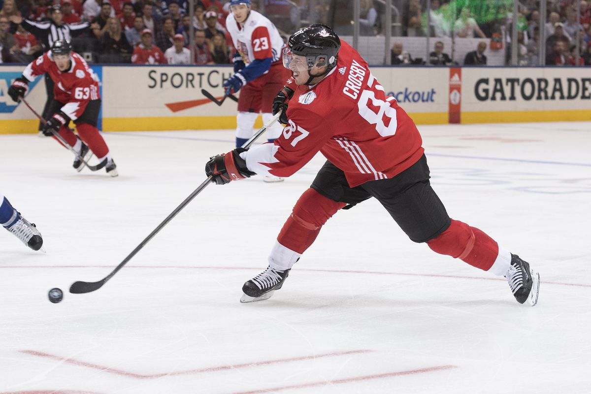 Team captain Sidney Crosby led the way for Team Canada on Saturday night