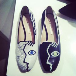 Although Nicholas Kirkwood is known for his sky-high heels, his flats are just as covet-worthy. He tells us that these were inspired by Paris in the 1920s.