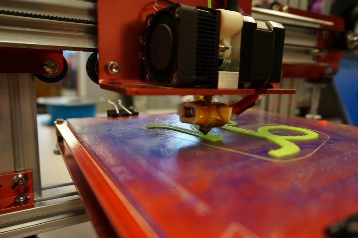 A 3D printer at Arsenal Tech 1st Maker Space.