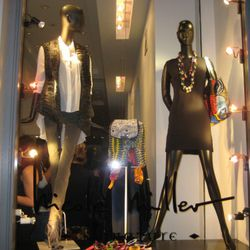As exhibited in this window display, the accessories work well paired with black garments