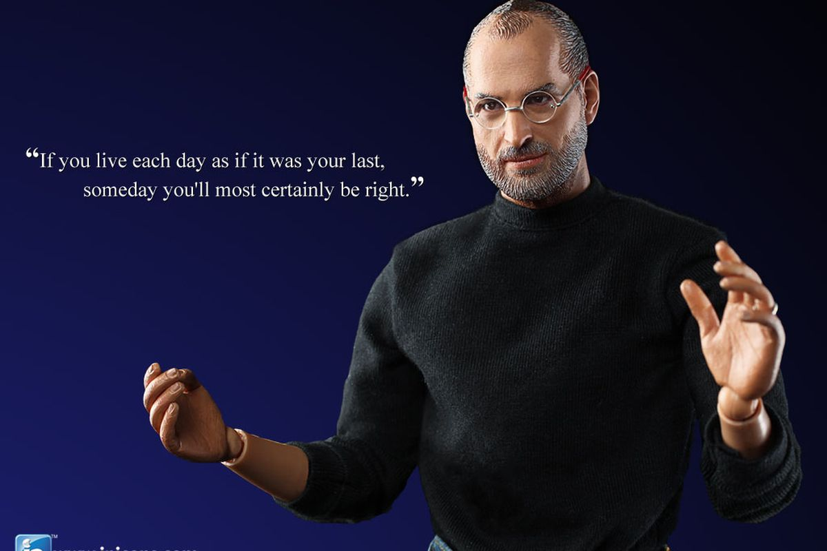 Steve Jobs in icons action figure