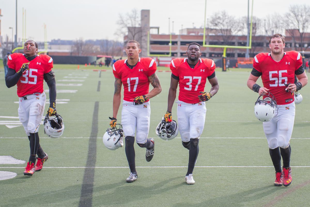 From left to right: Marcus Smith (35), Josh Woods (17), Avery Thompson (37) and Matt Gillespie (56)