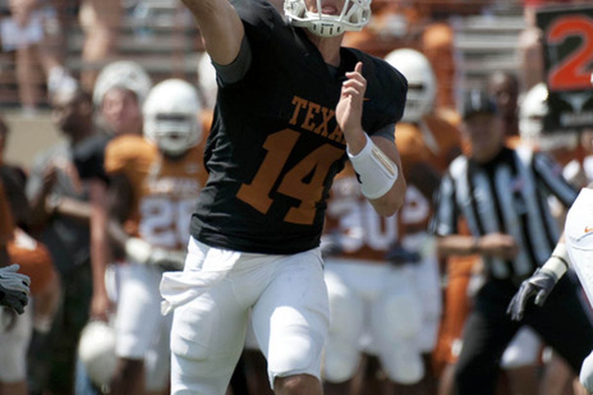 David Ash needs to take advantage of the summer months to bolster the Texas passing game ( Brendan Maloney-US PRESSWIRE).