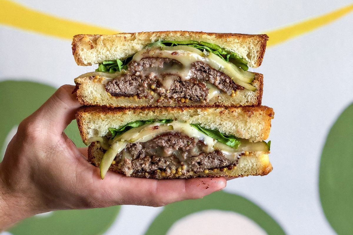 The Patty Boi melt at Spread & Co.