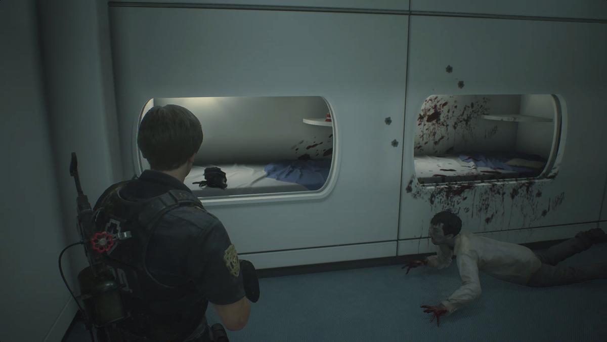 Resident Evil 2waking up Wayne Li