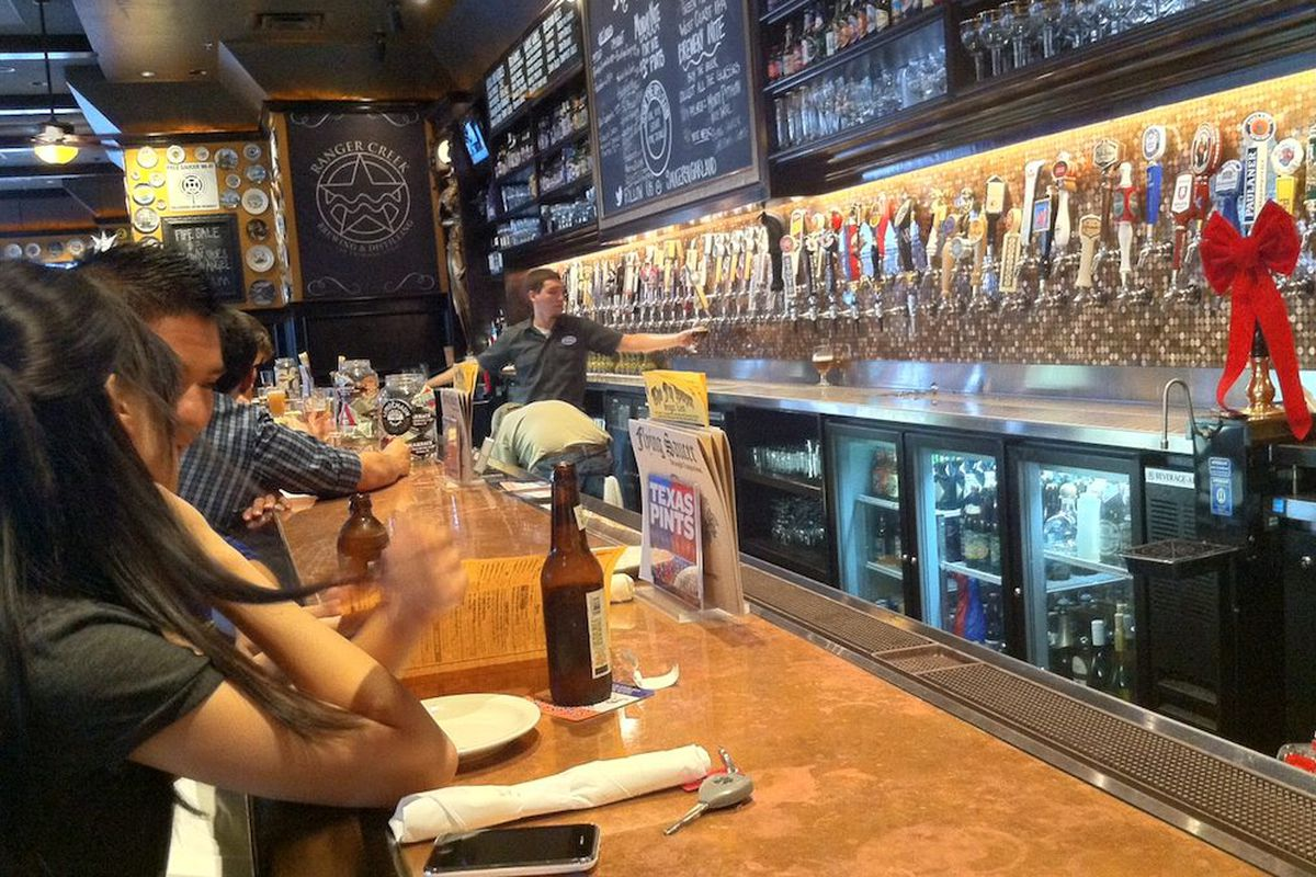Inside the new Flying Saucer in Sugar Land.