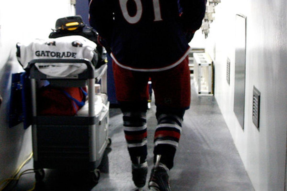 Rick Nash is still a Blue Jacket, but don't be surprised if this changes in the near future. (Photo by John Grieshop/Getty Images)