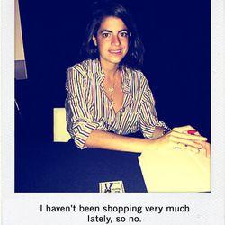 "Leandra Medine, author of <a href=""http://www.manrepeller.com/seeking-love-finding-overalls"">Man Repeller</a>"