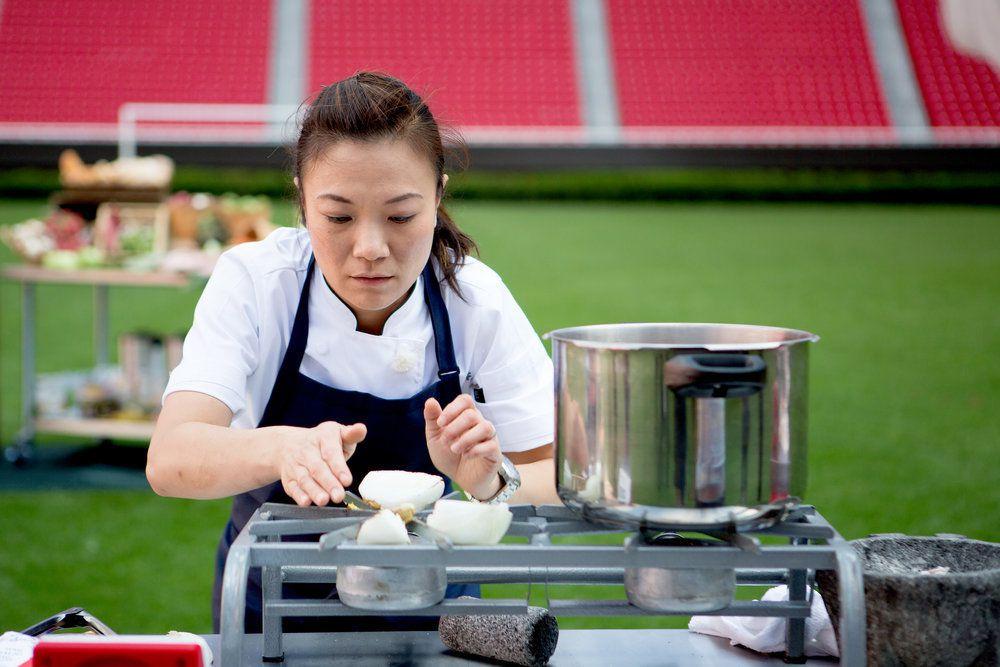 shirly preparing a dish