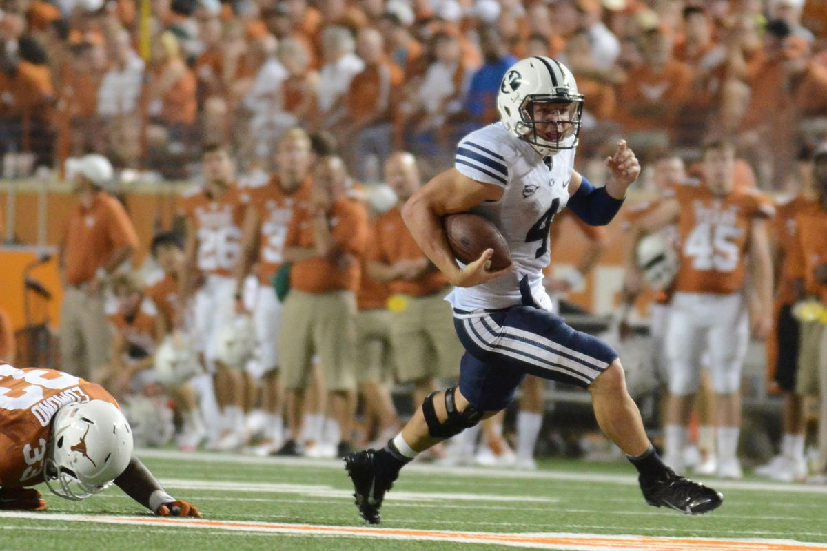 There now exist a plethora of pictures of Texas players flat on their faces trying to tackle BYU ball carriers.