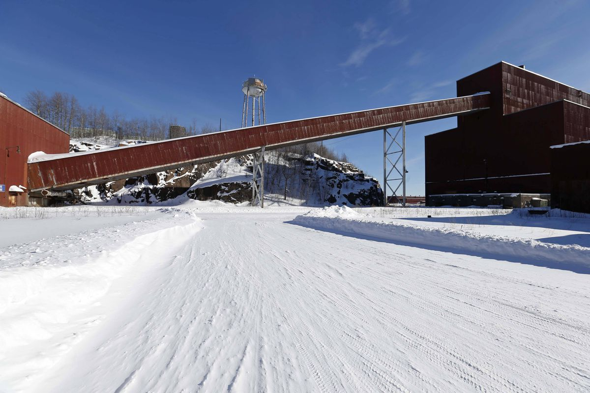 In this Feb. 10, 2016, file photo is a former iron ore processing plant near Hoyt Lakes, Minn., that would become part of a proposed PolyMet copper-nickel mine.