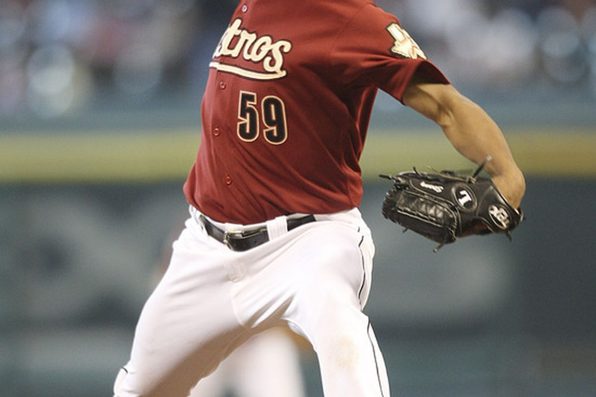HOUSTON - Wilton Lopez: Pseudo closer?  (Photo by Bob Levey/Getty Images)