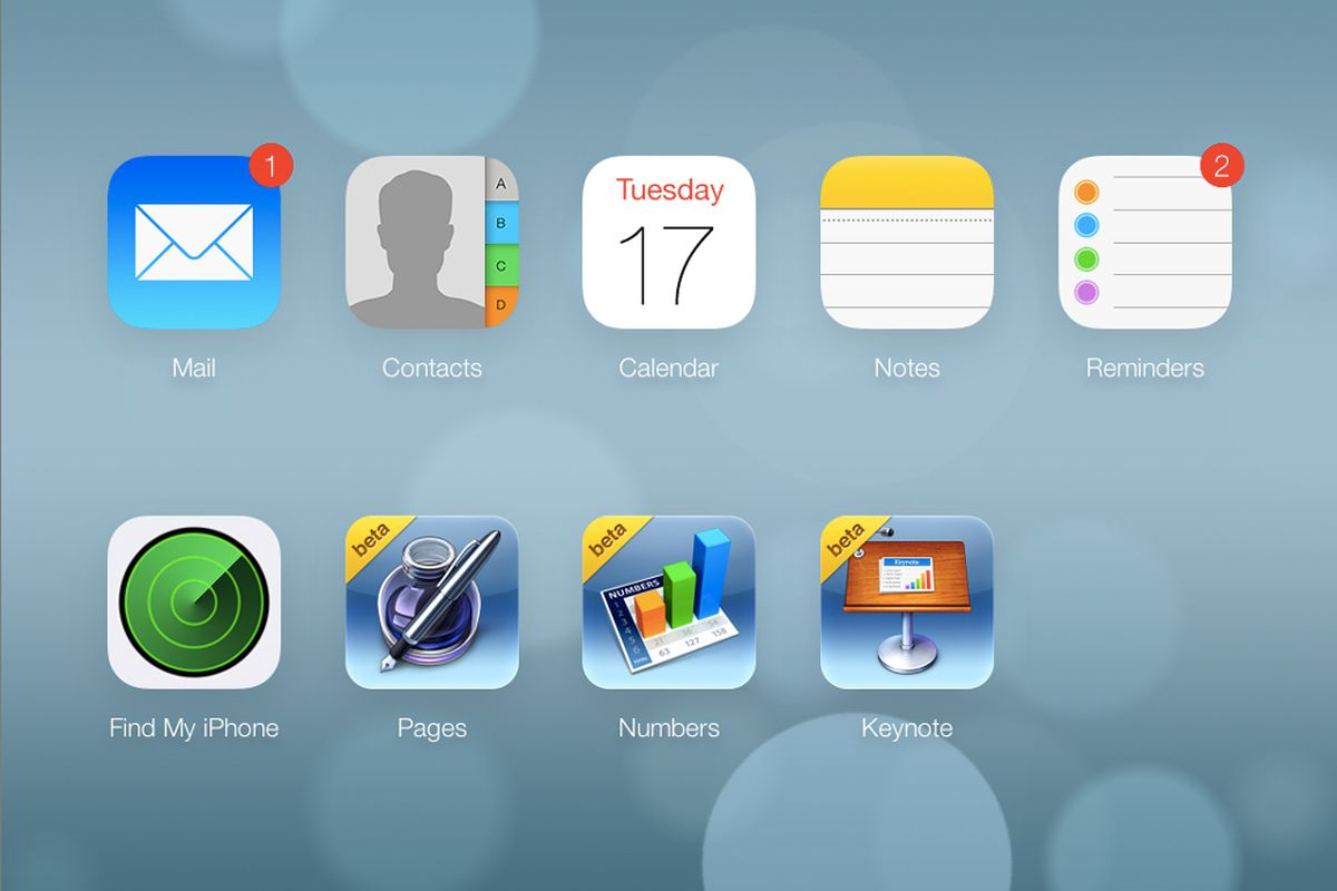 Redesigned iCloud
