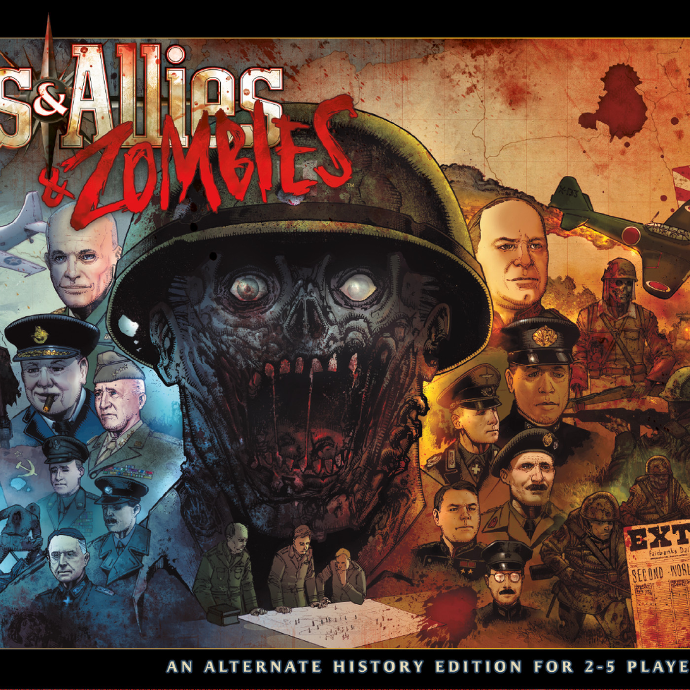 Axis & Allies and Zombies brings undead to the classic WWII strategy