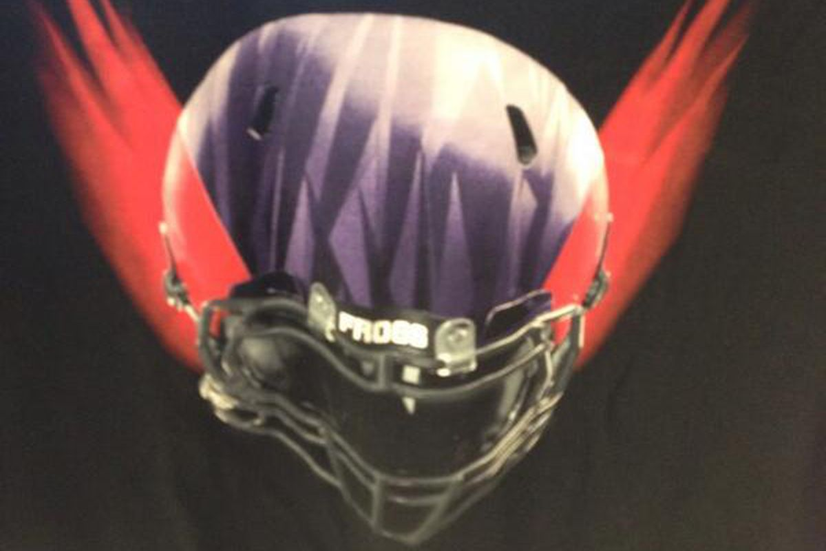 Is this the newly designed TCU Football helmet from Nike, set to debut this coming Friday?