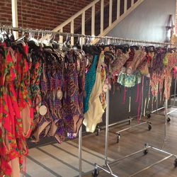 Bikinis, tankinis, one-pieces and tunics galore.