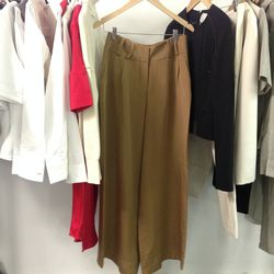 Behno sample wide-leg trousers, $70